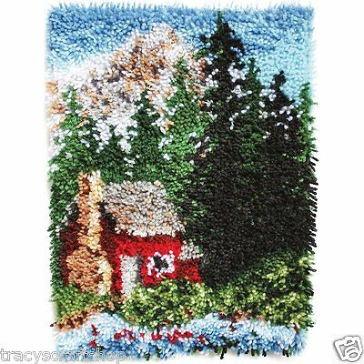 Cozy Cabin Latch hook Kit Rug Making kit 15x20 inches by Caron