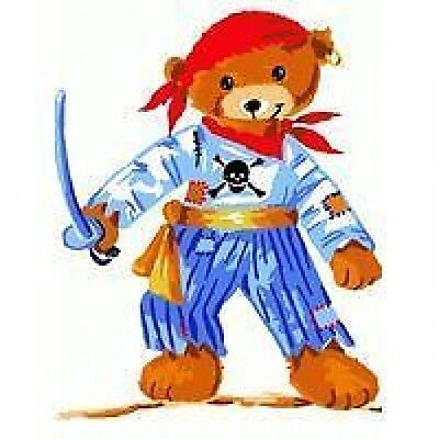Pirate Teddy Bear Tapestry Needlepoint Canvas Royal Paris