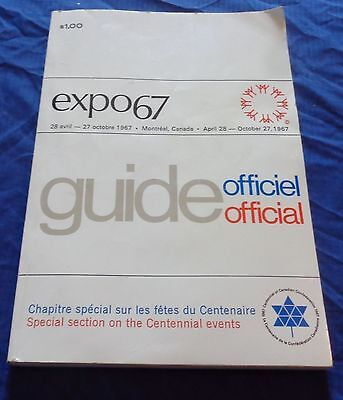 BR1663 Vtg 1967 Quebec Expo67 Official Travel Guide 352 Pages Ad