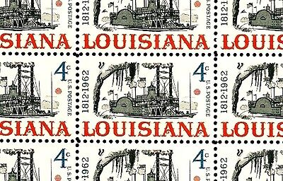 1962-LOUISIANA STATEHOOD - #1197 (3) Full Sheets of 50 Mint - MNH-Postage Stamps