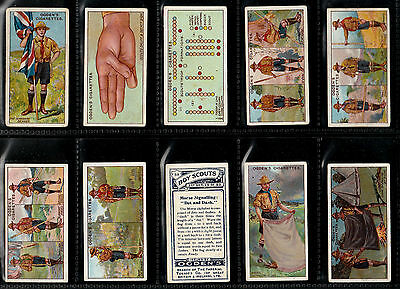 "OGDEN 1912 INTERESTING SCARCE (SCOUTING) FULL 50 CARD SET "" BOY SCOUTS 2nd BLUE"