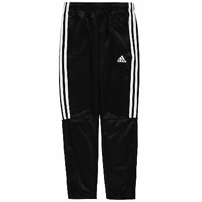 adidas Kids Three Stripe Tiro Pants Junior Boys Climalite Elastic Block Coloured