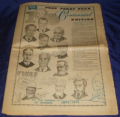 BR653 Vtg Port Perry ON 1972 Star Newspaper 100 Years Centennial Ed
