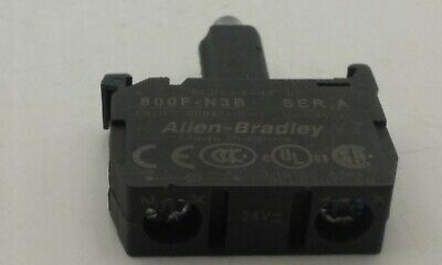 Allen Bradley 800F-N3B Blue Led 24V Ac/dc Latch Mount Led Module Nnb