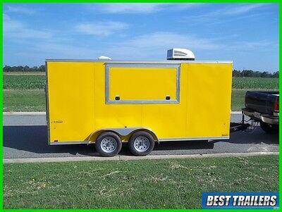 2017 look 7 x 16 concession trailer finished w AC and electric vending cargo