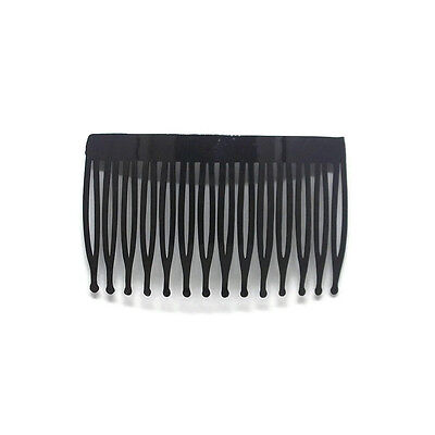"12 Plastic Hair Combs Black Blank Craft Supply Prom Wedding Accessory 3"" 70mm"