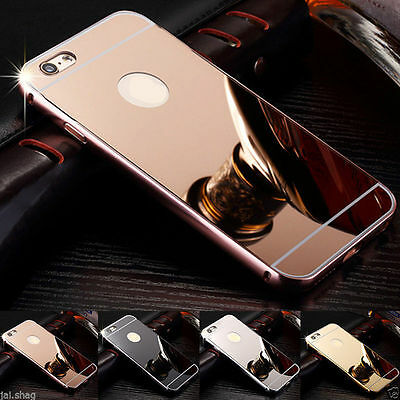 Rosegold Aluminum Mirror Metal Hard Protective Back Case For Iphone 6 6s{[KQ120