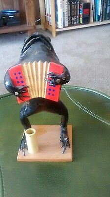 Real Taxidermy Frog Playing An Accordian