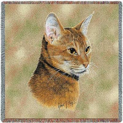 Lap Square Blanket - Abyssinian Cat by Robert May 1957