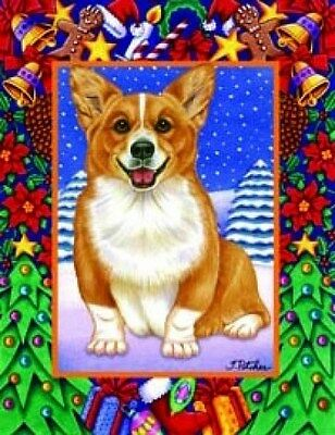 Large Indoor/Outdoor Christmas Flag - Corgi (TP) 68044