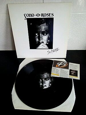 """Soho roses so alone uk only 12"""" single picture sleeve + reivew"""