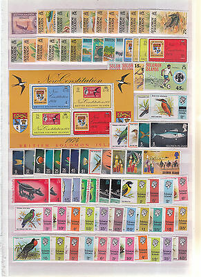 Solomon Islands On Stockpages Most 1970's Many Sets Complete  Umm