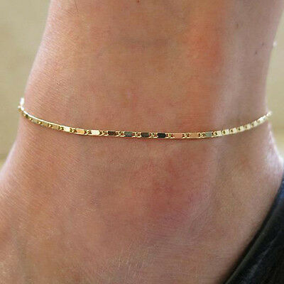 New Arrival Gold Simple Adjustable Ankle Bracelet Chain Anklet Foot Jewelry Gift