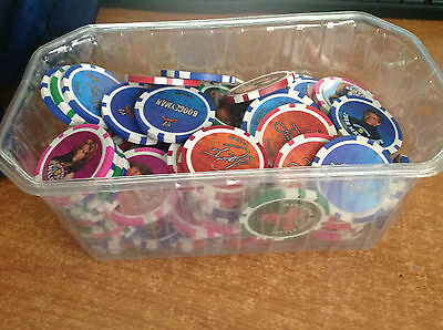 Large Job Lot of WWE Wrestling Poker Chips. all in VGC