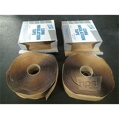 """2 ROLLS of National Refrigeration NRP1 30FT x 1/8"""" x 2"""" Cork Insulation Tape"""
