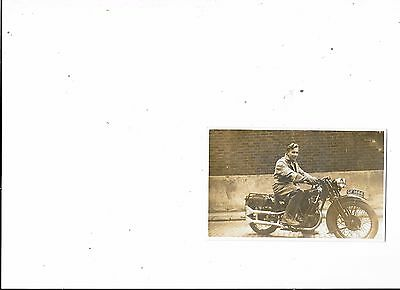 Postcard Unknow Young Man On Motorcycle