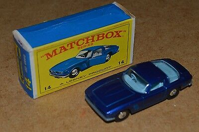 Vintage Lesney Matchbox Series No. 14 ISO GRIFO Car Boxed MIB