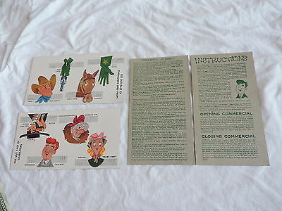 vtg NABISCO TV PUPPET THEATRE CARDS FIGURES SCRIPTS COMMERCIALS free shipping