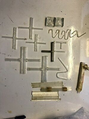 Lab Glassware T Piece Connector 3 Way Pipe Glass Rods Chemical Holders Job Lot