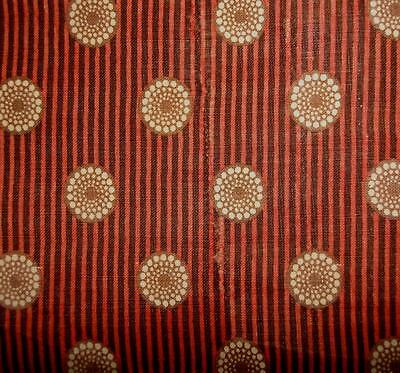 BEAUTIFUL FRAGMENT EARLY 19th CENTURY FRENCH MADDER COTTON c1830S