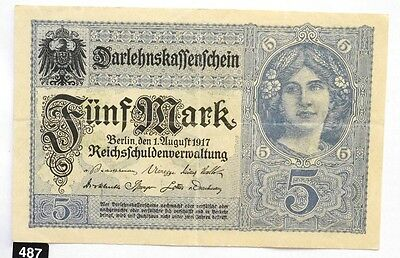 Germany 5 Mark 1917 !!!  Combine Shipping!!!