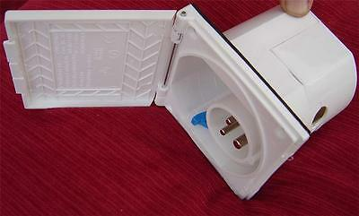 Caravan Motorhome Boat Yacht  mains inlet box socket. flush fitting 240 VAC