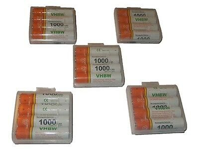 20x Batterie rechargeable 1000mAh + box / Ni-Mh / 1.2V / AAA / Micro / R3 / HR03