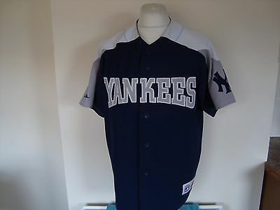 Vintage NY New York Yankees MLB Baseball Shirt Large Mens Majestic