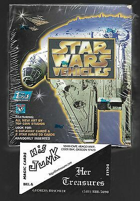 Star Wars Vehicles by Topps Factory Sealed box 36 packs