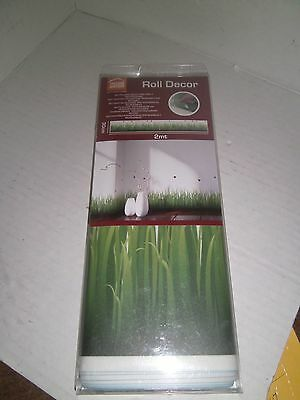 Home Decore Grass And Ladybugs Peel and Stick Border Decal