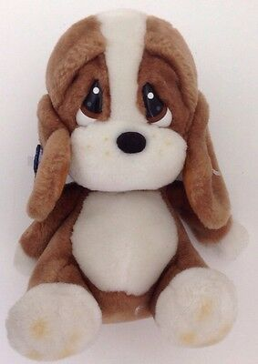 "Vintage Applause Sad Sam Puppy Dog Plush 8"" Bassett Hound Stuffed Animal Sad Eye"