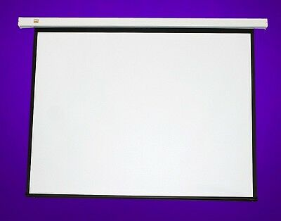 "New 120"" Pulldown Manual Pull Down Projector Projection Screen Matt White 4:3"