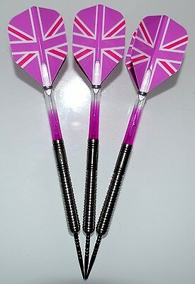 RED DRAGON MANIC TUNGSTEN DARTS 24g FITTED WITH RING GRIP POINTS