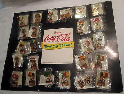 Complete set of 24 Nations Coca Cola World Cup '94 Pins!