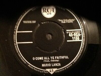 Mario Lanza . O Come All Ye Faithful / Silent Night Holy Night . Mint Unused