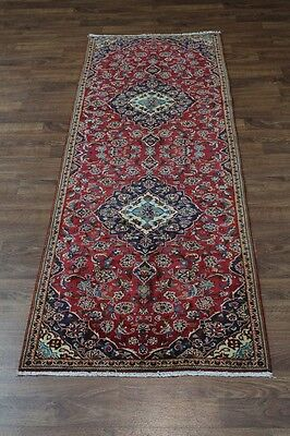 Traditional Design Runner S Antique Kashan Persian Oriental Rug Carpet 3'8X10'5