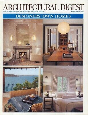 Architectural Digest September 2003 Designers' Own Homes 021417DBE4