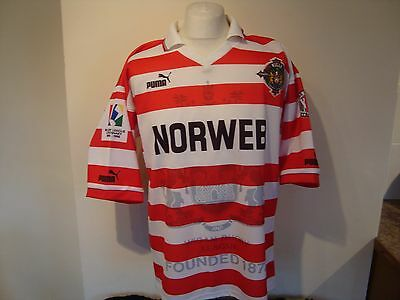 Vintage Wigan Warriors 1995-96 Rugby League Shirt Large Mens Puma