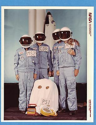 1982 NASA STS-5 Columbia Shuttle Astronaut Gag Photo E.T. Phone Home, R-Rated