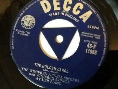 The Winnifred Atwell Singers . The Golden Carol / Christmas Morning . 1958