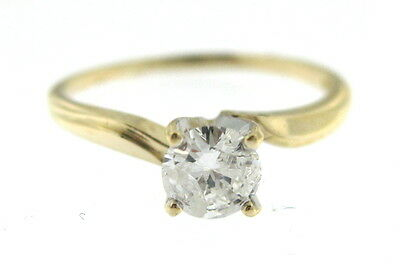 Ladies 14K Yellow Gold Diamond Solitaire Ring 50Pts