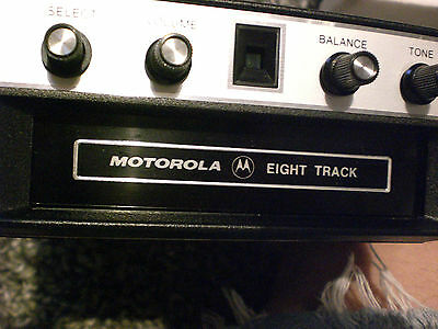 NEW 8 TRACK PLAYER MOTOROLA  - C2ST8 ford GM etc