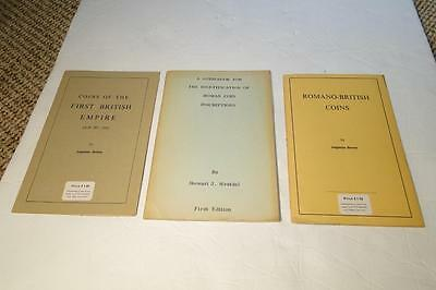 Three Old British Coin Booklets - Romano British Coins, Coins of British Empire