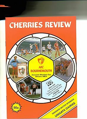 Bournemouth v Everton 1985/86 League Cup 2nd round 2nd leg
