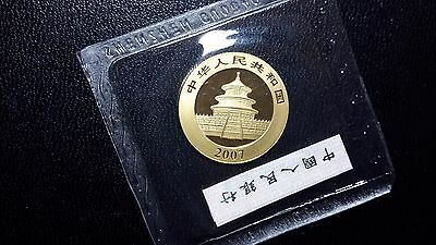 Pristine 2007 China Gold Panda 1/4 100 Yuan original mint packaging MS Chinese
