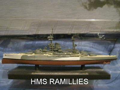 """ATLAS 1/1250 scale """"HMS RAMILLIES"""" MODEL SHIP ON NAMED DISPLAY BASE MINT & BOXED"""