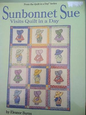 Sunbonnet Sue Visits Quilt in a Day by Eleanor Burns Baby Quilt, Lap Quilt