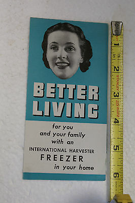 Vintage RARE IH International Harvester Freezer Advertisement Flyer