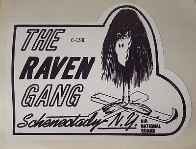 C-130D Sticker 139th Airlift Squadron-The Raven Gang Schenectady NY HUMMEL