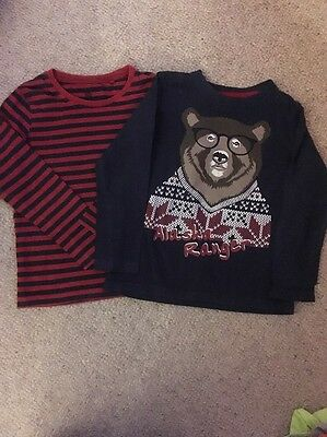 Boy's Long Sleeved Tops Age 4-6 Years